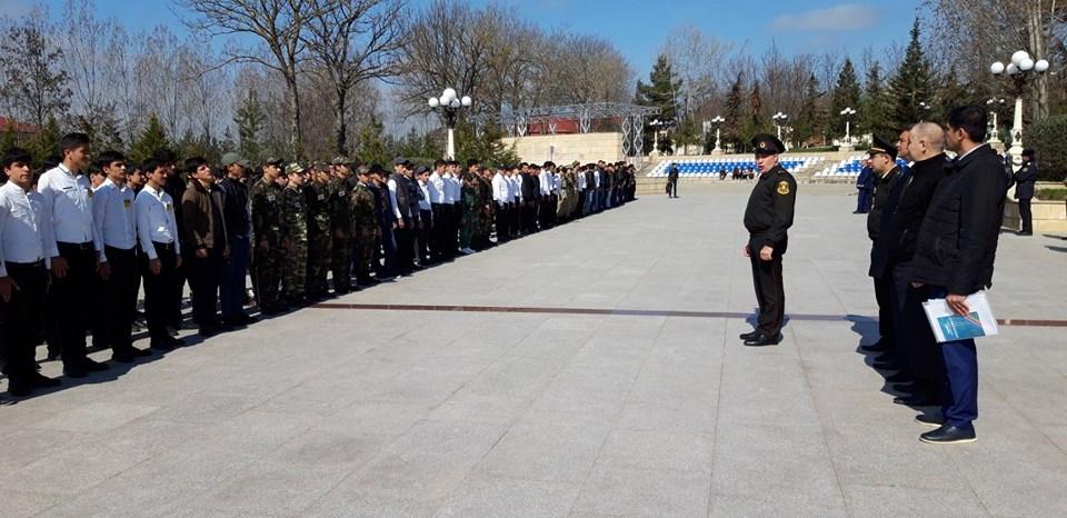 """Rayonda  """"Şahin"""" hərbi   idman oyunları keçirilib"""