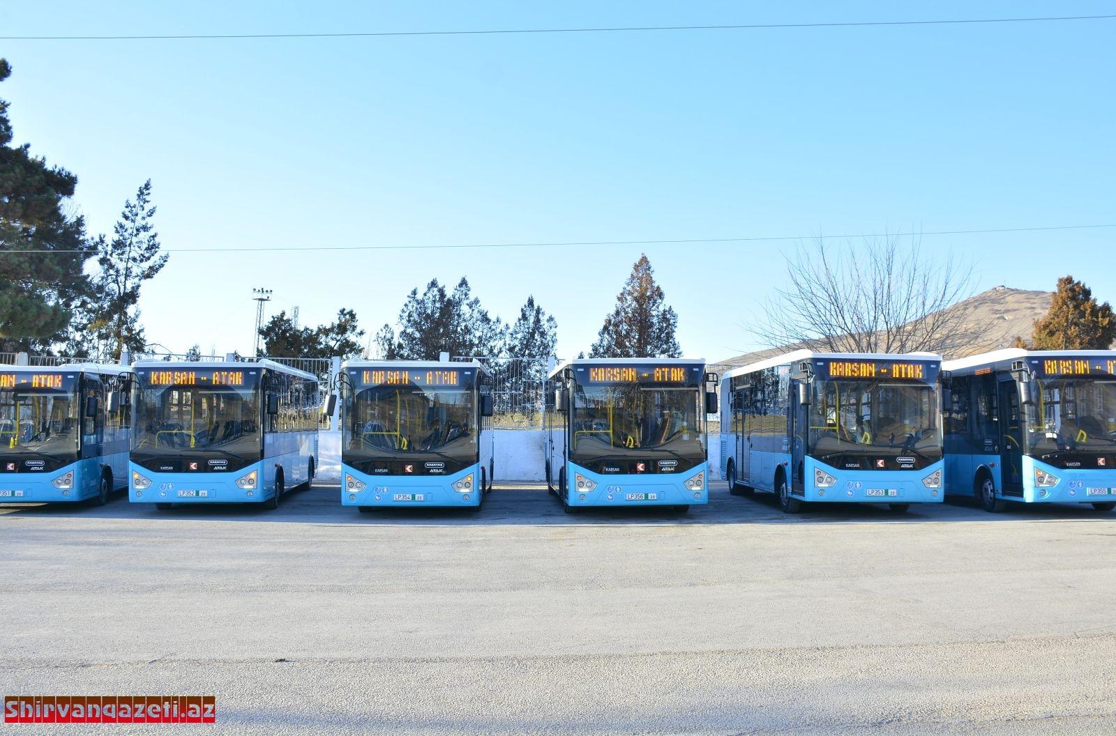 Şamaxıya iritutumlu müasir avtobuslar gətirilib