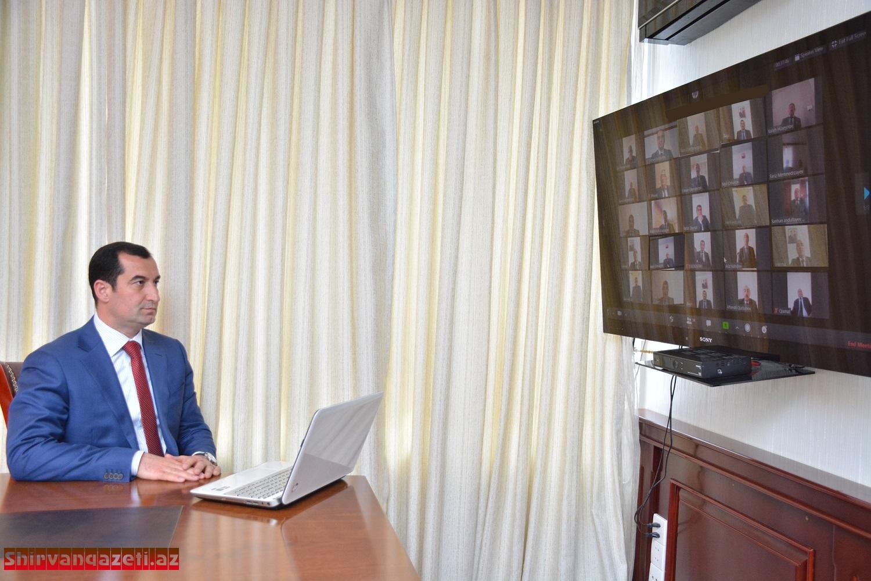 Şamaxı Rayon İcra Hakimiyyətinin başçısı icra hakimiyyətinin məsul əməkdaşları və ərazi icra nümayəndələri ilə video-müşavirə keçirib