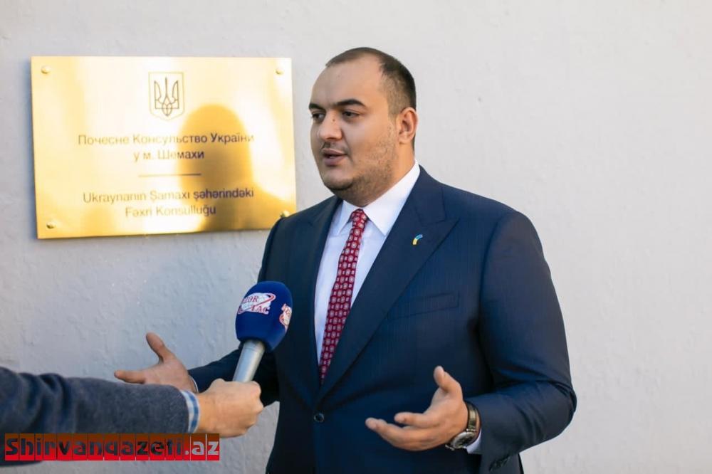 Ukraynanın Fəxri konsulu: Fəaliyyətim ölkələrimiz arasında əlaqələrin daha da inkişafı üçün əlverişli şərait yaradılmasına yönələcək