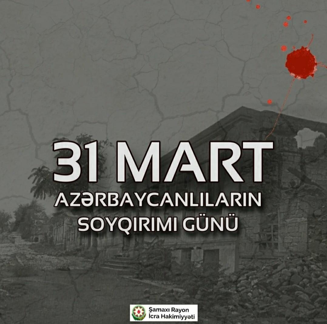 31 Mart Azərbaycanlıların soyqırımı günü ilə bağlı Şamaxı rayonunda onlayn formatda konfrans keçirilmişdir.