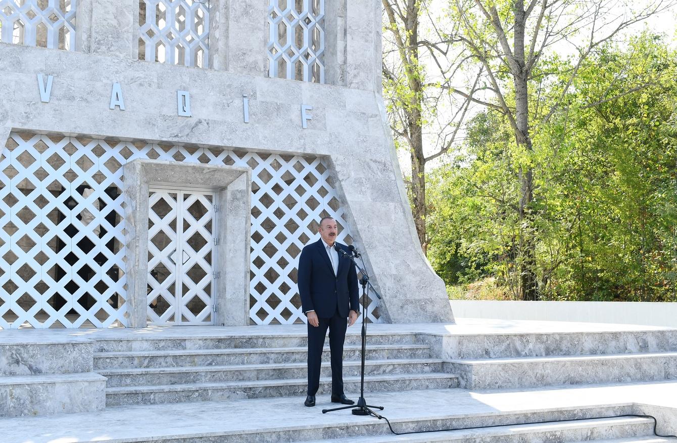 Prezident və birinci xanım Vaqif Poeziya Günlərinin açılışında