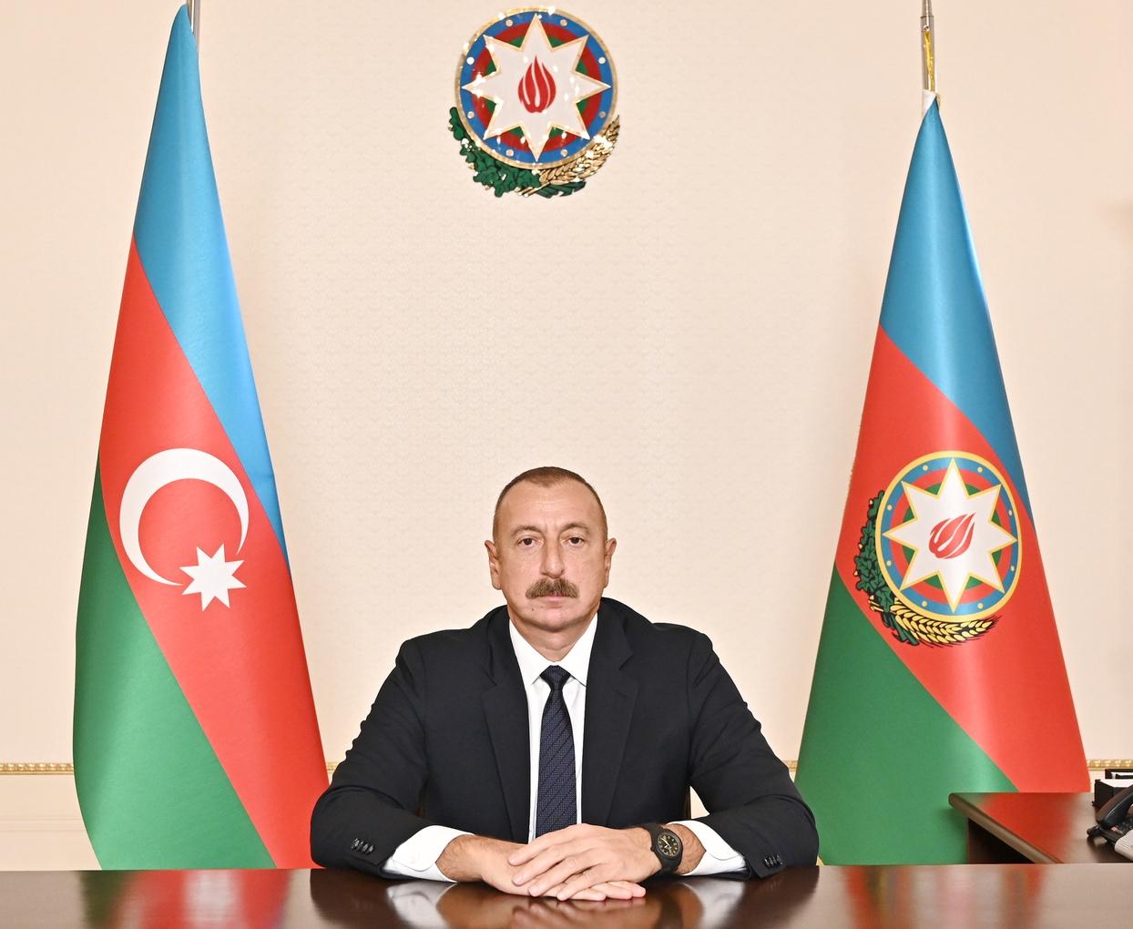 Prezident İlham Əliyev 2021-ci il 15 oktyabr tarixində keçirilmiş Müstəqil Dövlətlər Birliyinin Dövlət Başçıları Şurasının iclasında çıxış etdi